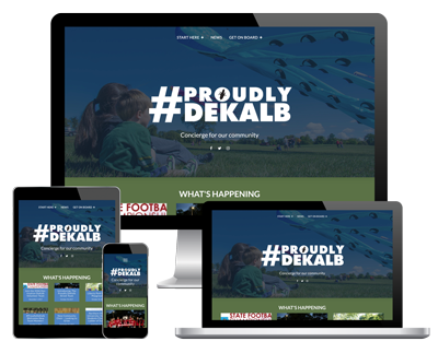 Proudly DeKalb website thumbnail
