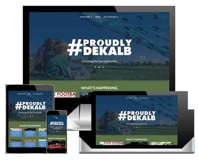 Proudly DeKalb website thumbnail