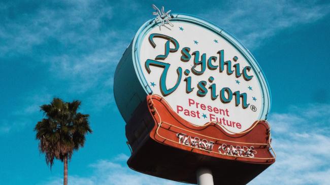 psychic vintage sign