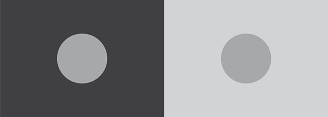 optical illusion tone example